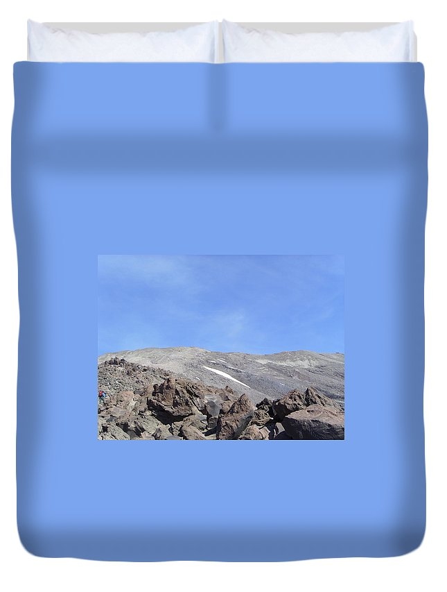 Mt St Helens.mountains Duvet Cover featuring the photograph The Base Of Mt St Helens by Jeff Swan