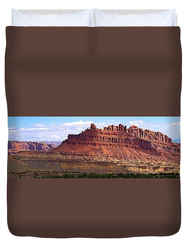Landscape Utah Duvet Cover featuring the photograph The Battleship Utah by Heather Coen