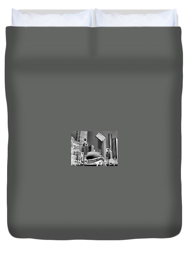 The Bean Duvet Cover featuring the photograph The Bean - 2 by Ely Arsha