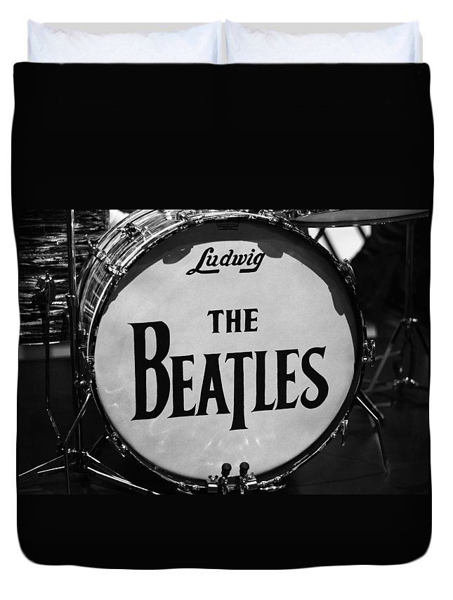 The Beatles Drum Duvet Cover featuring the photograph The Beatles Drum by Dan Sproul