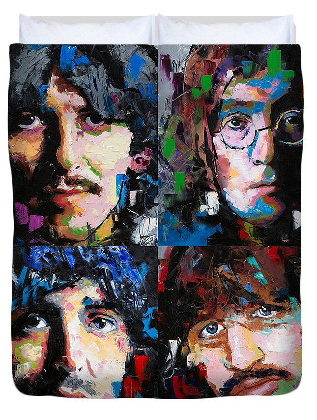 The Beatles Duvet Cover featuring the painting The Beatles by Richard Day