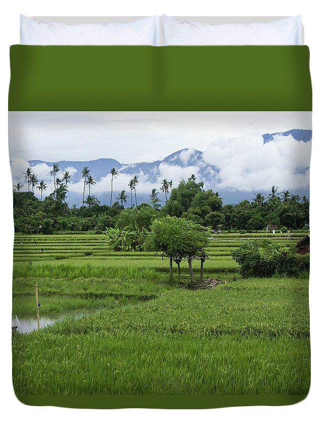 Asia Duvet Cover featuring the photograph The Beauty Of Bali by Michele Burgess