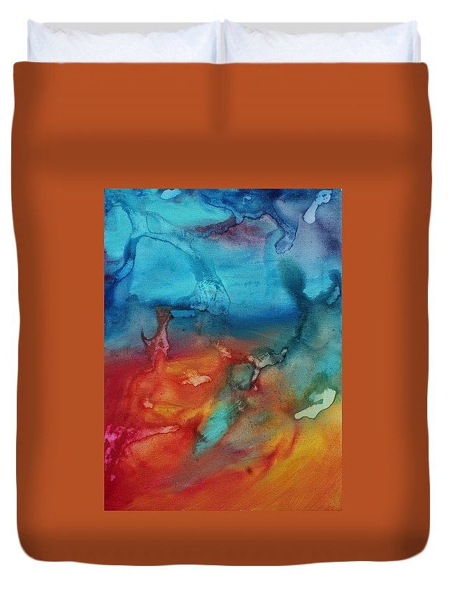 Painting Duvet Cover featuring the painting The Beauty Of Color 2 by Megan Duncanson