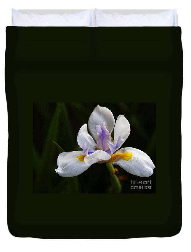 Flower Duvet Cover featuring the photograph The Beckoning by Linda Shafer