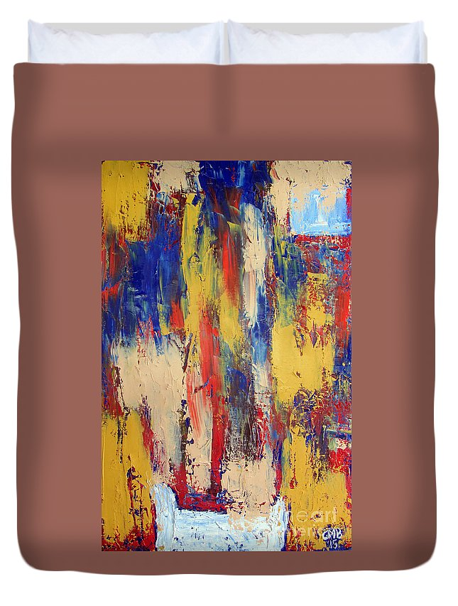 Bed Duvet Cover featuring the painting The Bed I I by Greg Mason Burns