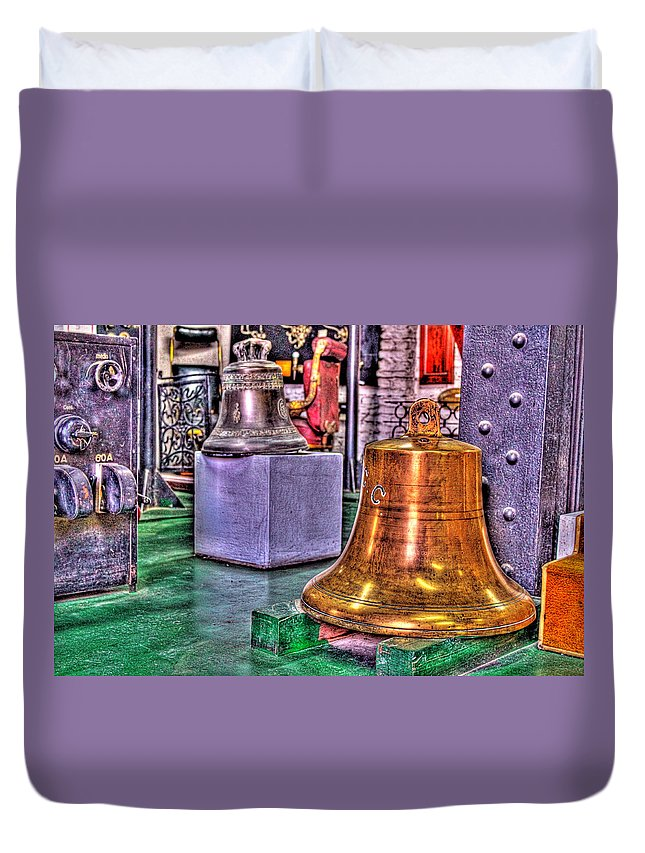 Bells Duvet Cover featuring the photograph The Bell Tolls by Francisco Colon