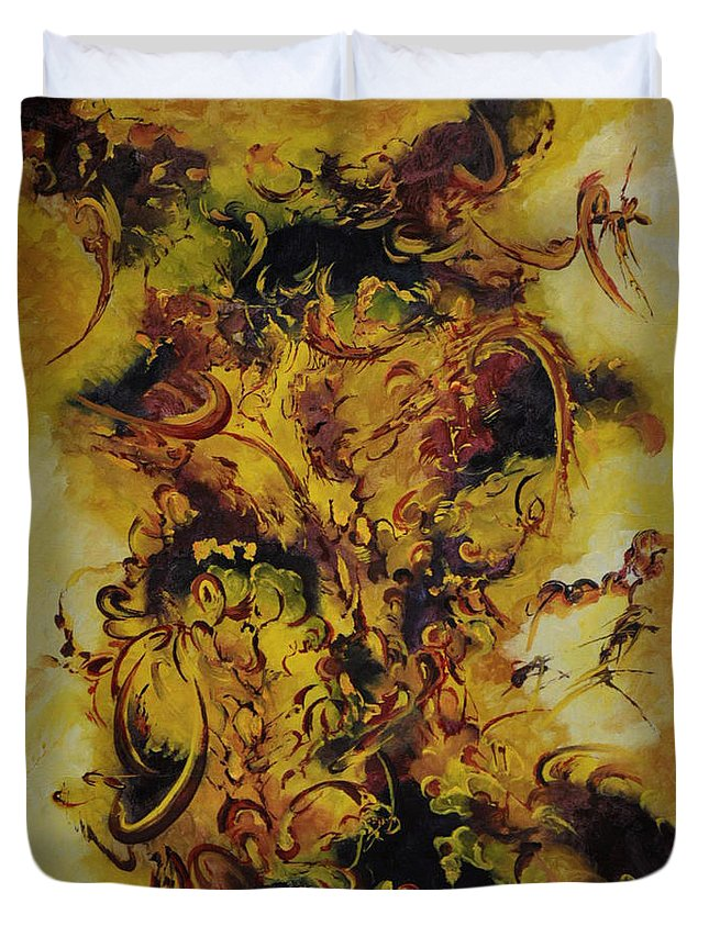 The Biblical Journey Duvet Cover featuring the painting The Biblical Journey by Carmen Fine Art