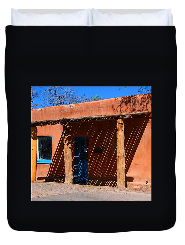 Santa Fe Duvet Cover featuring the photograph The Big Shade by Susanne Van Hulst
