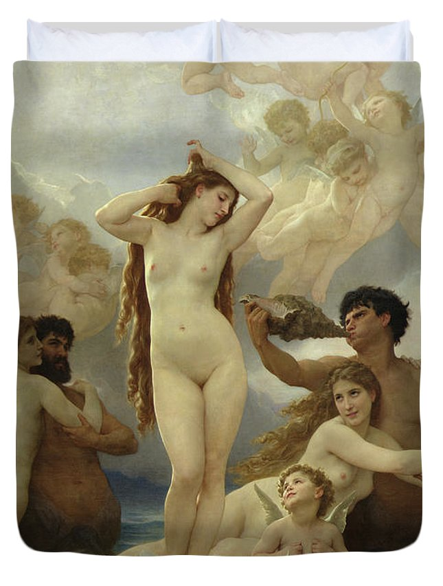 The Duvet Cover featuring the painting The Birth Of Venus by William-Adolphe Bouguereau