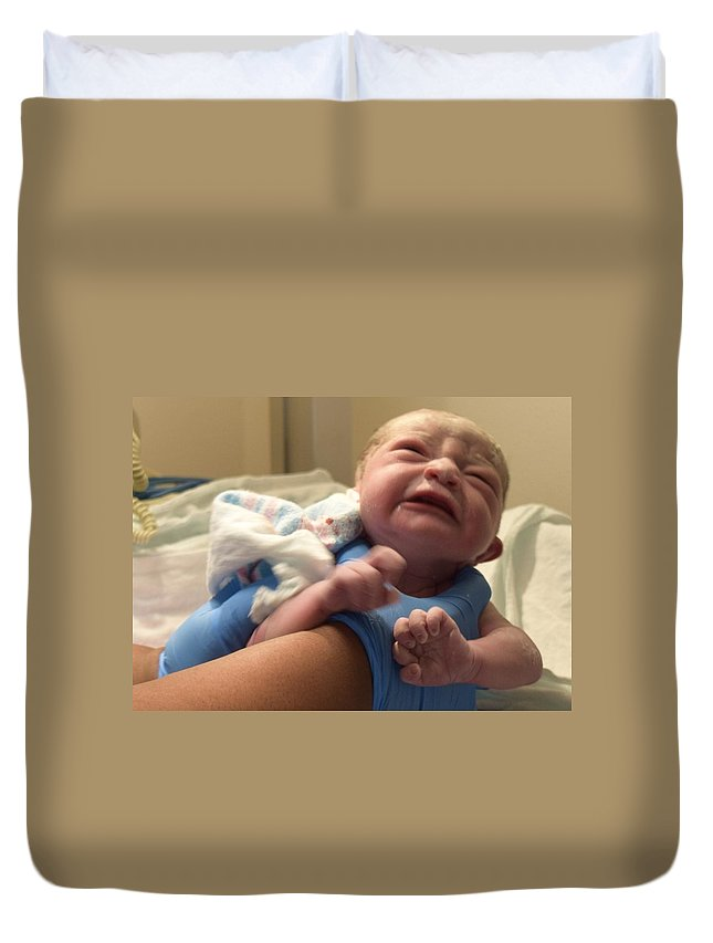 Baby Duvet Cover featuring the photograph The Birthday by Marnie Malone