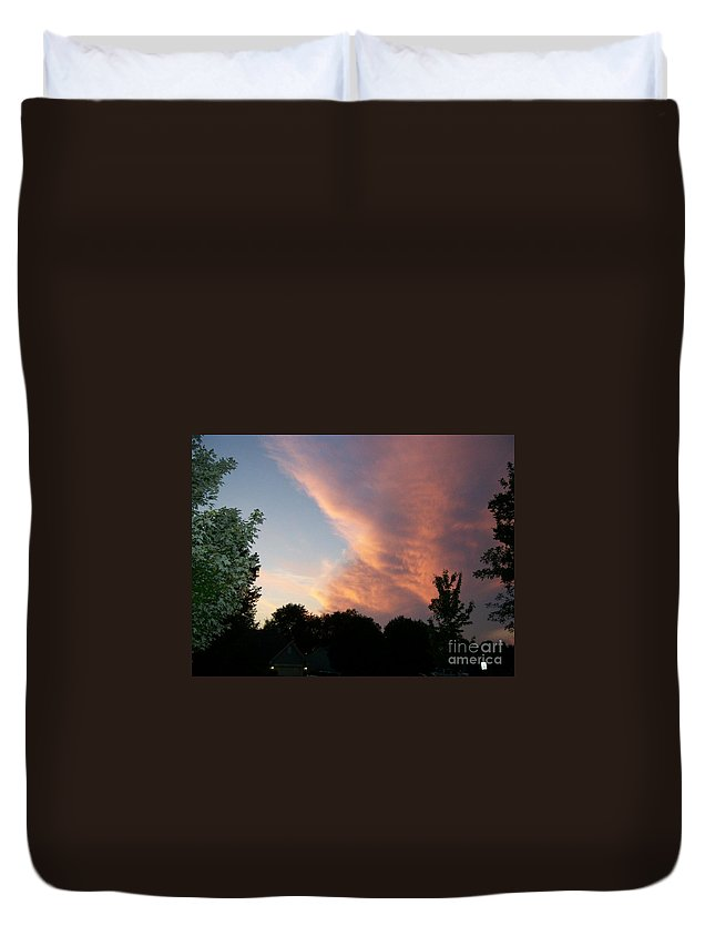 Sky Duvet Cover featuring the photograph The Blanket by Stephen King