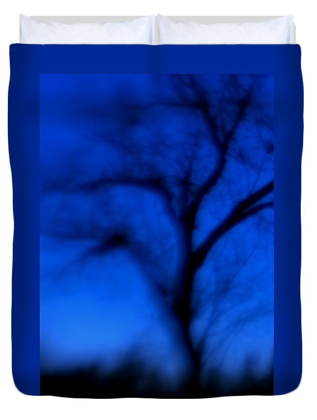 Tree Duvet Cover featuring the photograph The Blue Hour by Kevin Barry