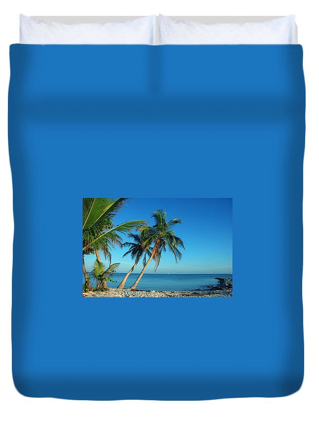 Smathers Beach Duvet Cover featuring the photograph The Blue Lagoon by Susanne Van Hulst