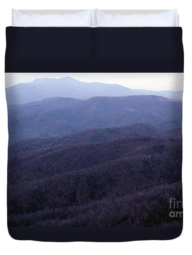 Mountains Duvet Cover featuring the photograph The Blue Ridge by Richard Rizzo