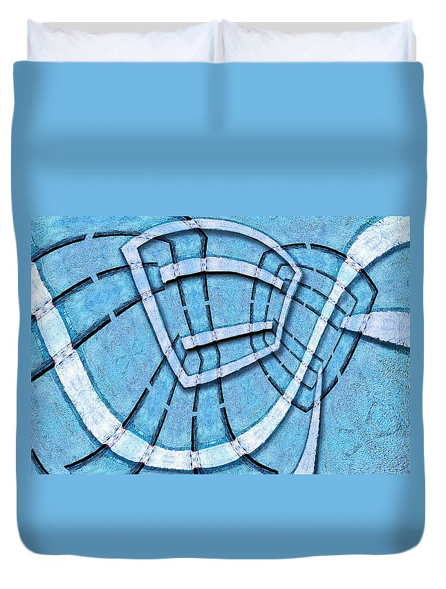 Photography Duvet Cover featuring the photograph The Blue Room by Paul Wear