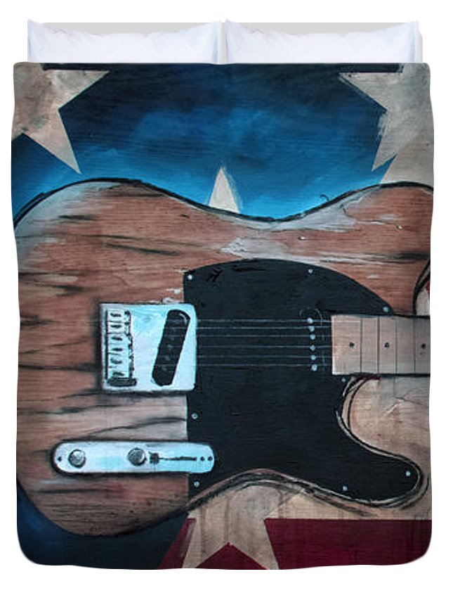 Bruce Springsteen Duvet Cover featuring the painting The Boss by Sean Parnell
