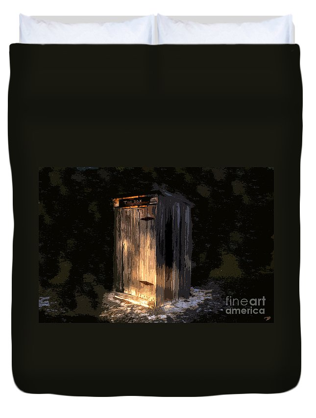 Outhouse Duvet Cover featuring the painting The Box by David Lee Thompson
