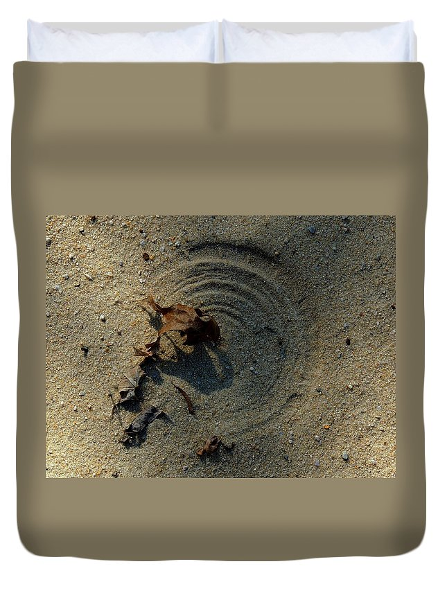 Leaf Duvet Cover featuring the photograph The Breath Of God - Study #2 by Vincent Green