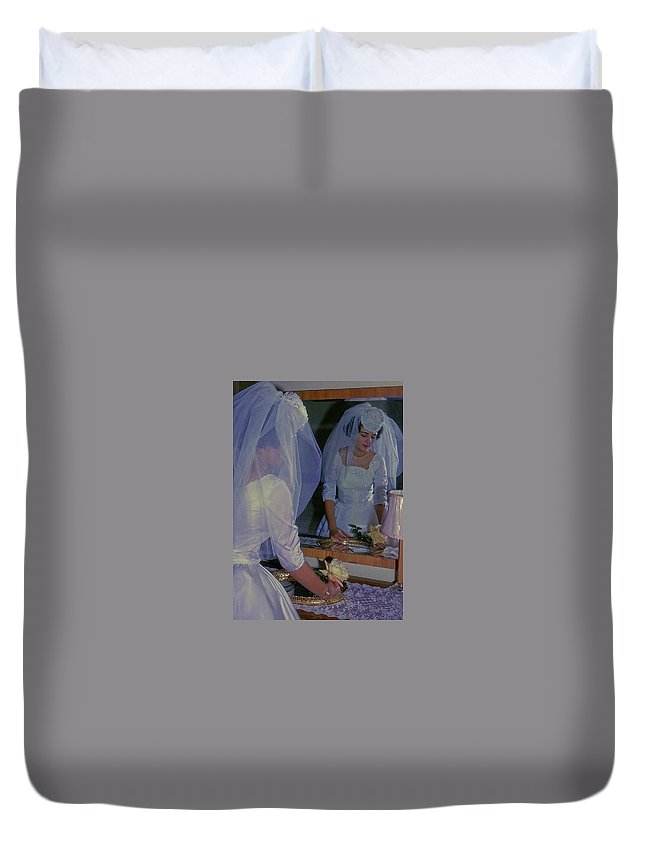 Bride Duvet Cover featuring the photograph The Bride by JAMART Photography