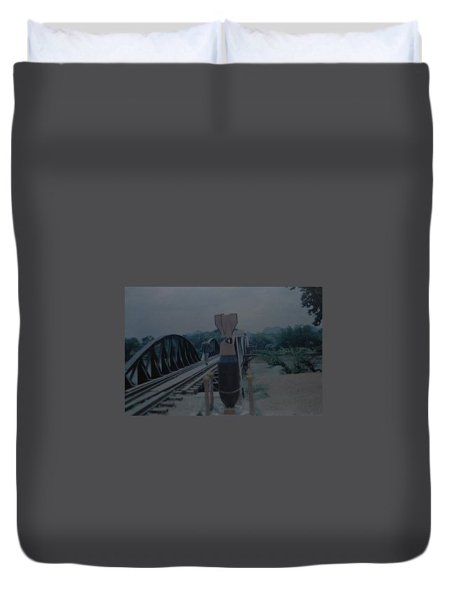 Bridge Duvet Cover featuring the photograph The Bridge On The River Kwai by Rob Hans