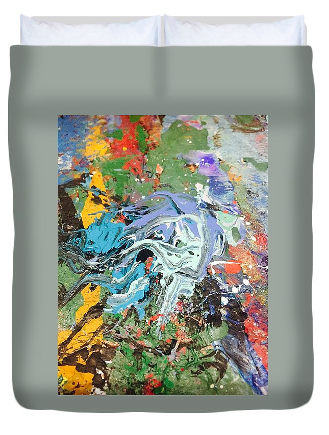 Art Duvet Cover featuring the painting The Battle Of Salamis by Edward Paul