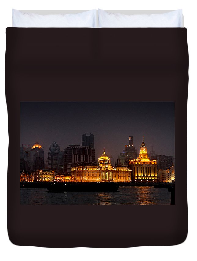 Bund Duvet Cover featuring the photograph The Bund - More Than Shanghai's Most Beautiful Landmark by Christine Till