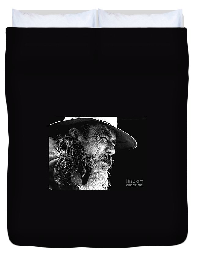 Australian Bushman Hat Duvet Cover featuring the photograph The Bushman by Sheila Smart Fine Art Photography