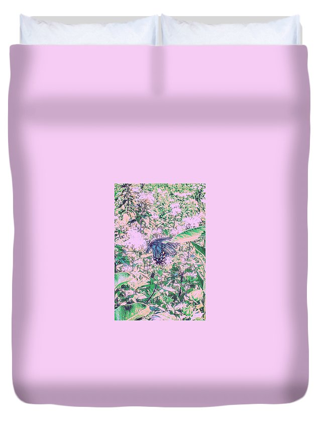 Butterfly Duvet Cover featuring the photograph The Butterfly by Paul Kercher