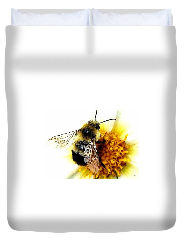 Honeybee Duvet Cover featuring the photograph The Buzz by Will Borden