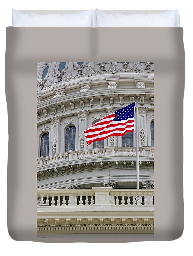 Washington Duvet Cover featuring the photograph The Capital by Bob Mintie