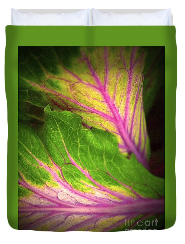 Leaves Duvet Cover featuring the photograph The Caress by Tara Turner