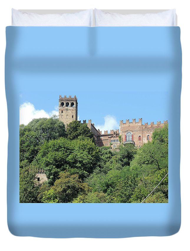 Castle Duvet Cover featuring the photograph The Castle Of Camino by Guido Strambio