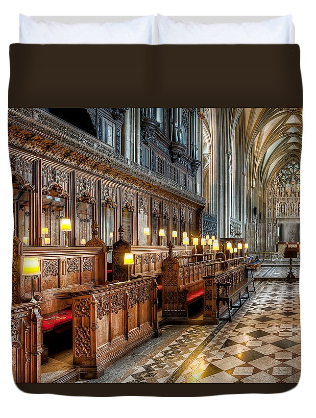 Church Duvet Cover featuring the photograph The Cathedral by Adrian Evans