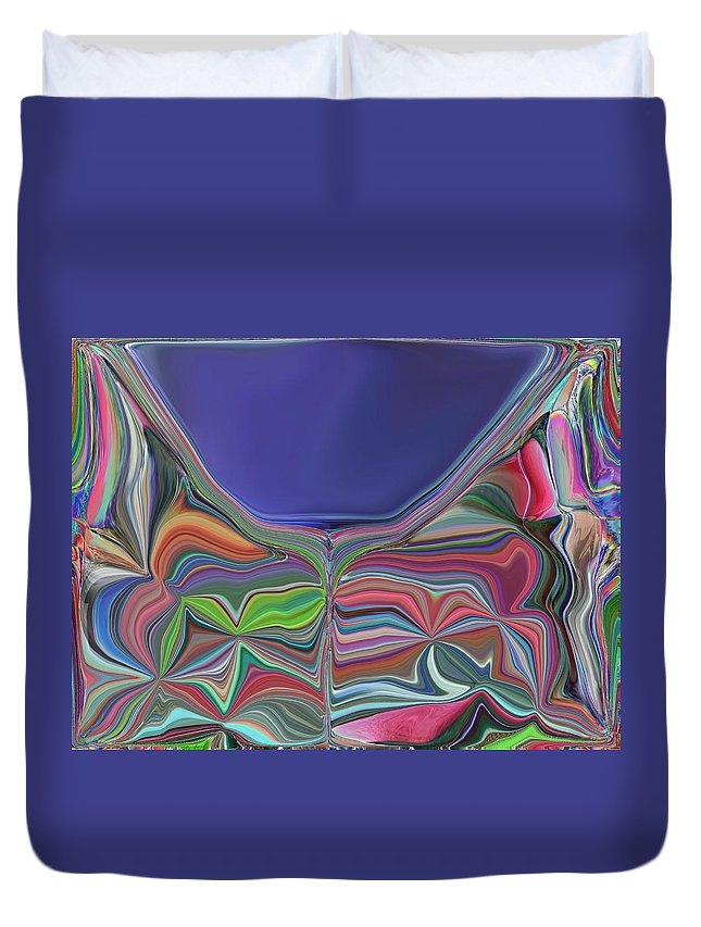 Chalice Duvet Cover featuring the digital art The Chalice by Tim Allen