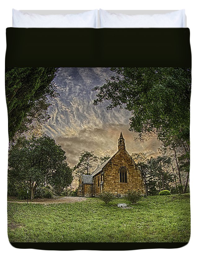 Church Duvet Cover featuring the photograph The Church by Chris Cousins