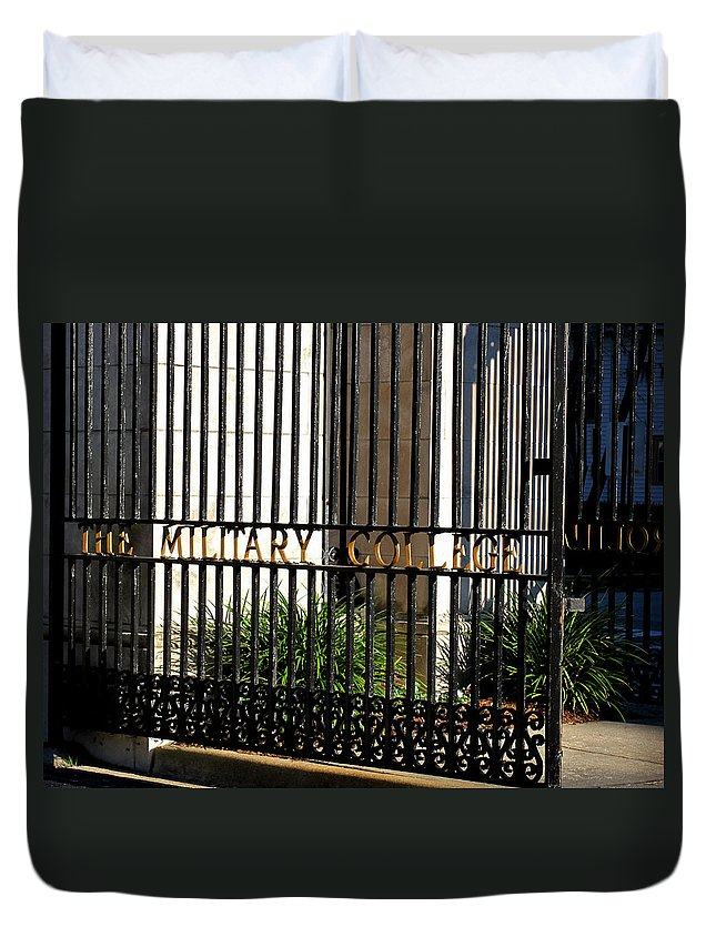 Photography Duvet Cover featuring the photograph The Citadel In Charleston V by Susanne Van Hulst