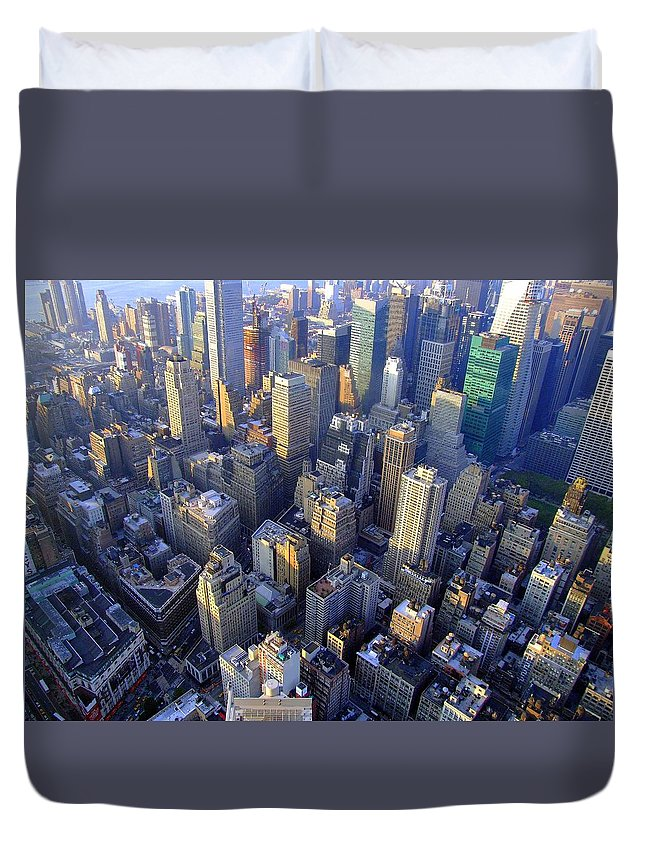 City Duvet Cover featuring the photograph The City II by Monica Ellen Smith