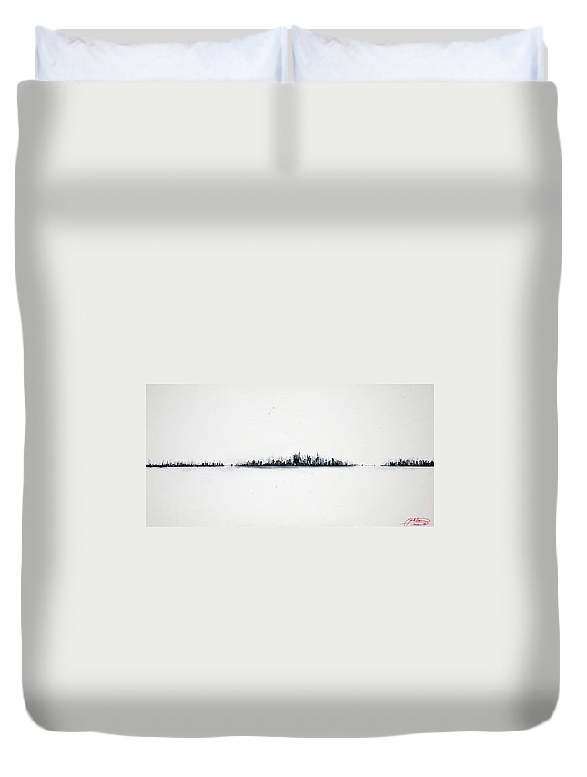 New Duvet Cover featuring the painting The City New York by Jack Diamond