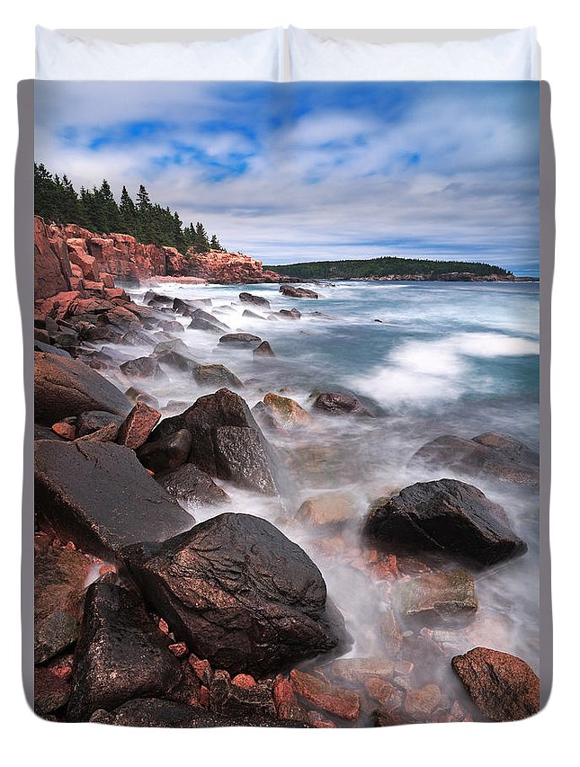 Cape Neddick Duvet Cover featuring the photograph The Cliff  by Emmanuel Panagiotakis