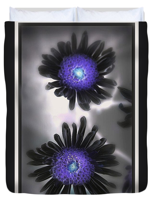 Flowers Duvet Cover featuring the photograph The Color Within by Linda Sannuti