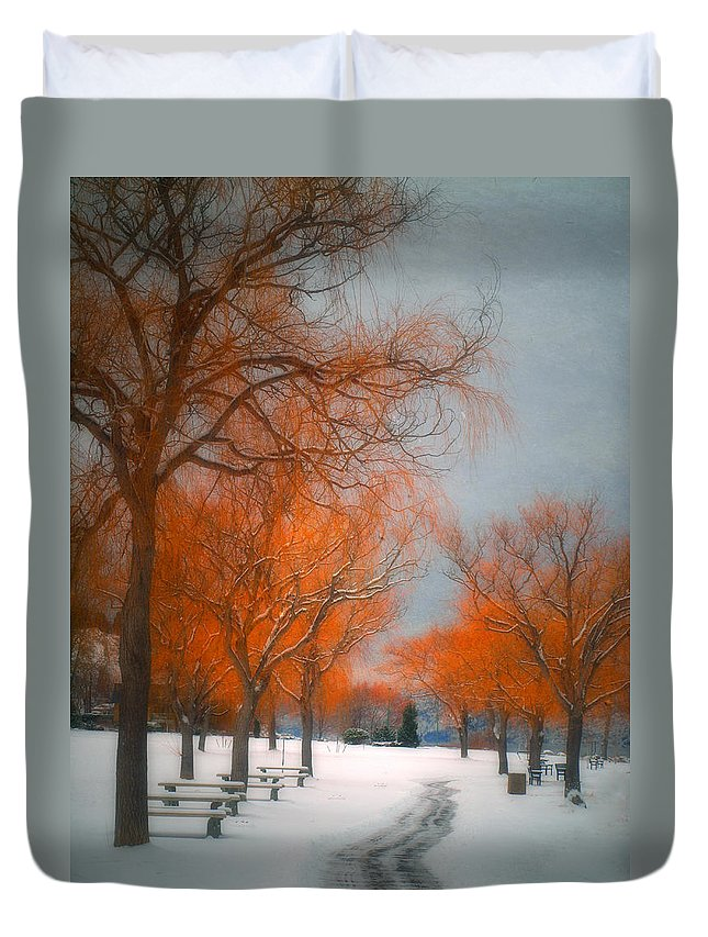 Summerland Duvet Cover featuring the photograph The Colours Of Winter by Tara Turner