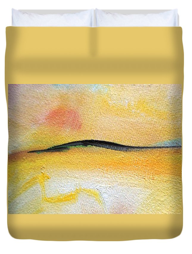 Truck Duvet Cover featuring the painting The Coming by Lord Frederick Lyle Morris - Disabled Veteran