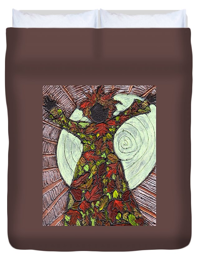 Autumn Duvet Cover featuring the painting The Coming Of Autumn by Wayne Potrafka
