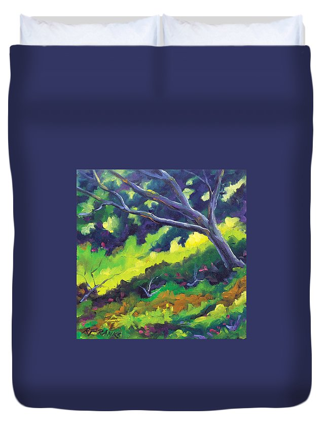 Art Duvet Cover featuring the painting The Cool Shade by Richard T Pranke
