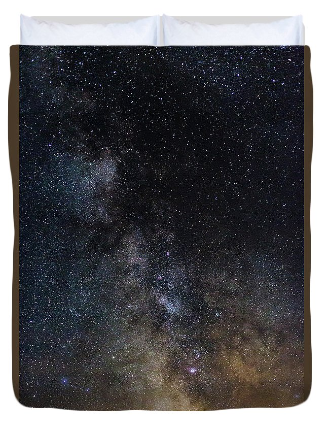 Photography Duvet Cover featuring the photograph The Core Of The Milky Way by Justin Starr