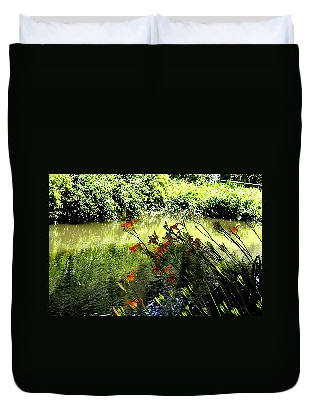 Creek Duvet Cover featuring the photograph The Creek At The Old Mill by Donna Walsh