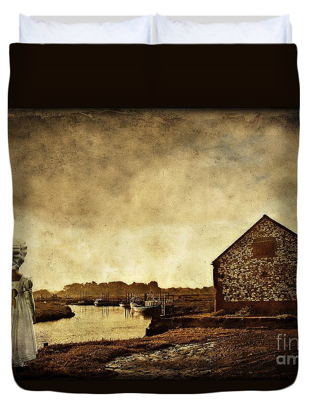 Thornam Creek Duvet Cover featuring the photograph The Creek by John Edwards