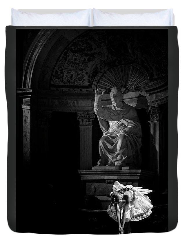 Dancer Duvet Cover featuring the photograph The Dancer by Livio Ferrari