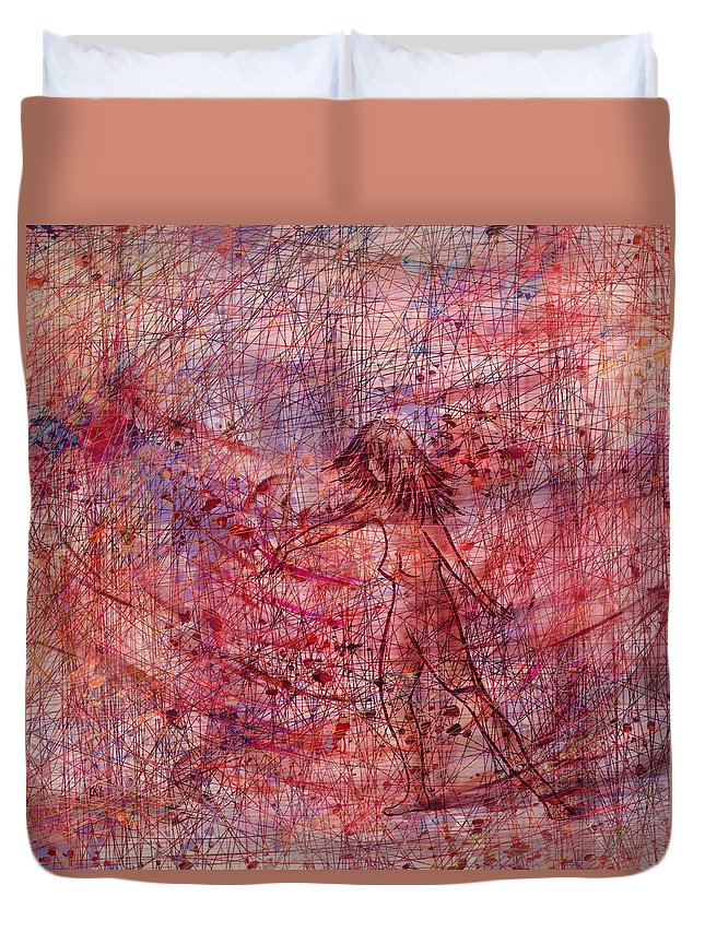 Abstract Duvet Cover featuring the digital art The Dancer by Rachel Christine Nowicki