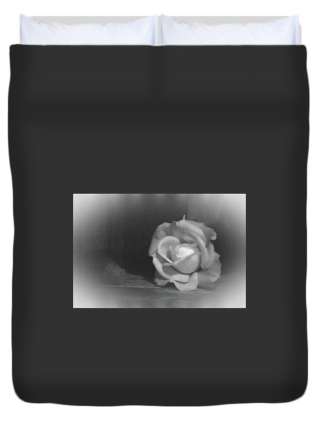 Rose Duvet Cover featuring the photograph The Dark Rose by Pamela Critchlow
